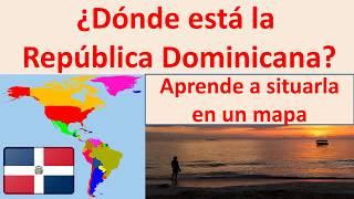 Donde esta Republica Dominicana. Where is dominican republic