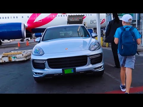 What airline gives you a PORSCHE?