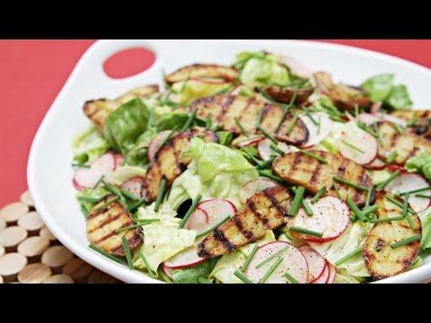 Boston Lettuce and Radish Salad With Grilled Fingerling Potatoes and Lemon-Garlic Vinaigrette | HuffPost Life