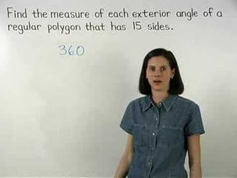 Exterior Angles Of A Regular Polygon Youtube