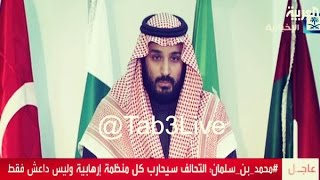 لحظة اعلان ولي ولي العهد محمد بن سلمان انشاء التحالف الاسلامي العسكري