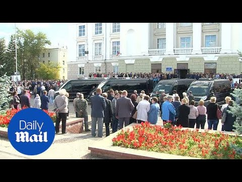 Service held for Russian scientists killed in mysterious explosion