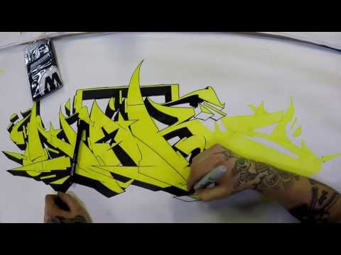 Naks Sdk - Sketch Session with Molotow Aqua Twin Markers - S