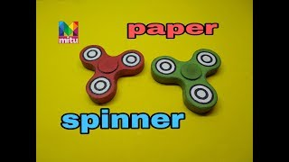 How to make paper spinner