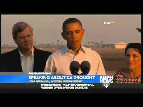 President Obama Speaking In Firebaugh