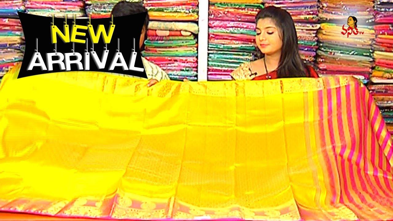 9a370fd5f3 Pink and Mustard Yellow Combination Tussar Pattu Saree || New Arrivals ||  Vanitha TV