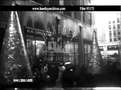 New York City 1958.  Archive film 95175