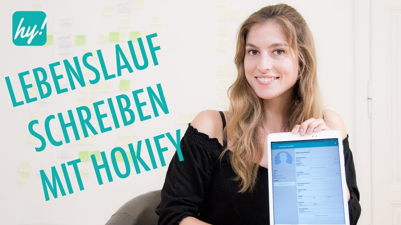 Lebenslauf schreiben mit Hokify - YouTube