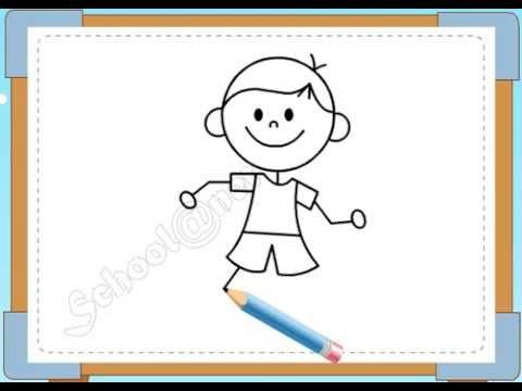 BÉ HỌA SĨ - Thực hành tập vẽ 96: Vẽ bé trai