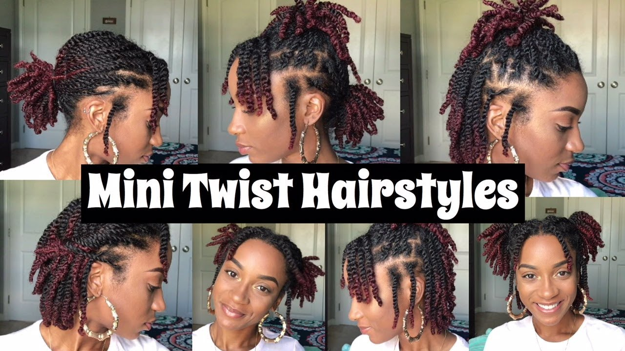 7 Quick Mini Twist Hairstyles Natural Hair Youtube