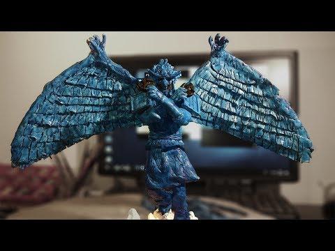 Painting Kakashi action figure: Perfect Susanoo - part 10 - Blue dark shade paint
