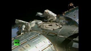 NASA astronauts perform stunning spacewalk