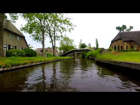 Giethoorn, The Netherlands.. Venice of Holland.. Full Boat Tour