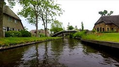 Giethoorn, The Netherlands. Venice of Holland. Full Boat Tour