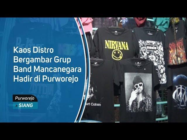 Kaos Distro Bergambar Grup Band Mancanegara Hadir di Purworejo