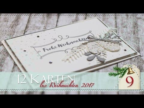 12 Karten bis Weihnachten 2017 | #9 | Frostiger Tannenzauber | Monochrome Farbgebung | Stampin' Up!