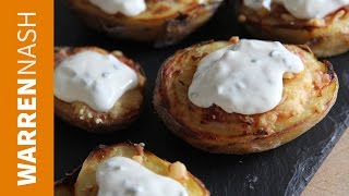 Potato Skins Recipe - Loaded With Cheese & Bacon - Recipes By Warren Nash