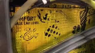 Первый слой легкой виброизоляции Comfort mat занял своё место в дверях и на крыше любимой Мазда 6