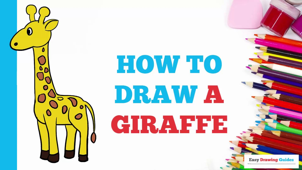 how to draw a giraffe easy for kids