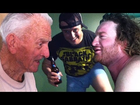 Beverly AC Club, Jump On Bed In Underwear, Angry Dad Fritos Prank On Larry And Mike's Grandpa!