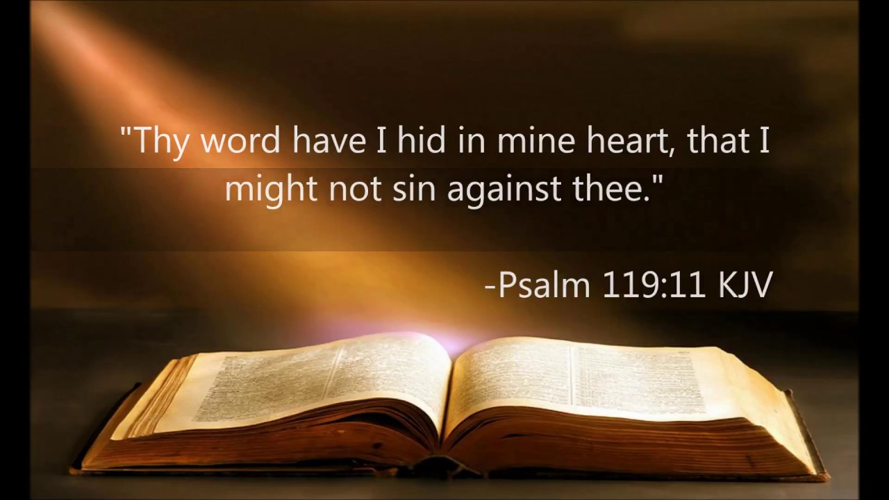 Palm 119:11   Thy Word Have I Hid In My Heart
