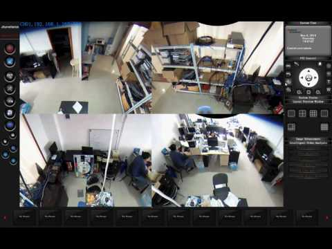 Fisheye 360 degree ip camera PC software show