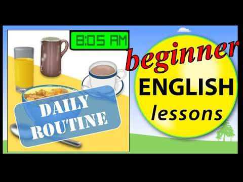 Daily routine in English | Beginner English Lessons for Children