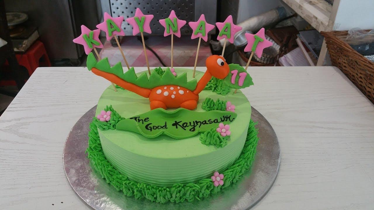 How to make Dinosaur Fondant cake Topper for Cake ...