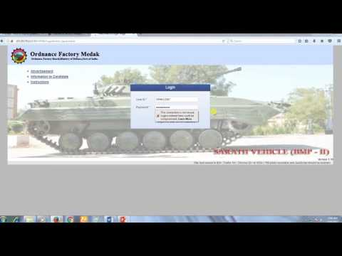 How to Apply for Ordnance Factory Medak 10th Pass (PAY RS.18000/-)