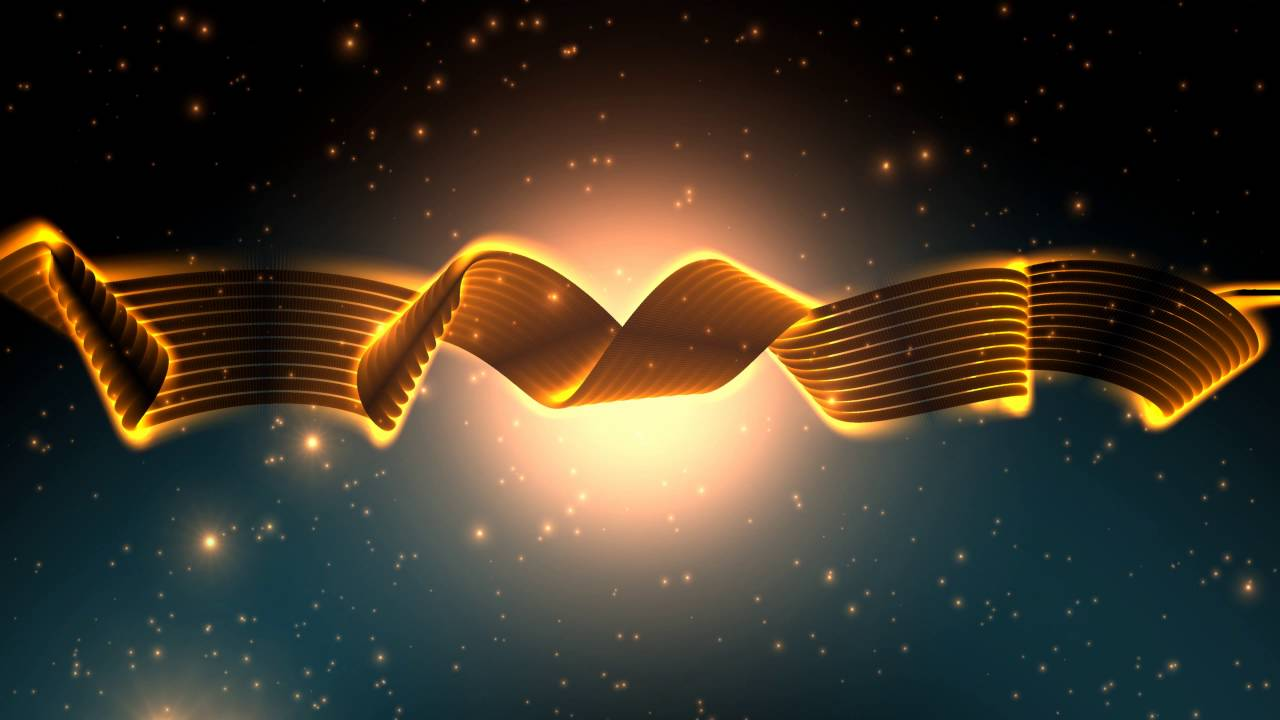 4k golden ribbon sparkling design 2160p moving background