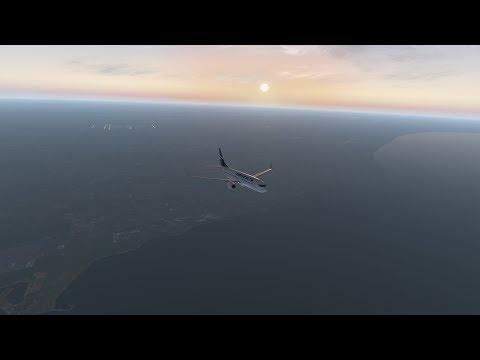 X-Plane 11 | Chicago to Detroit | New Years Eve | Full Flight