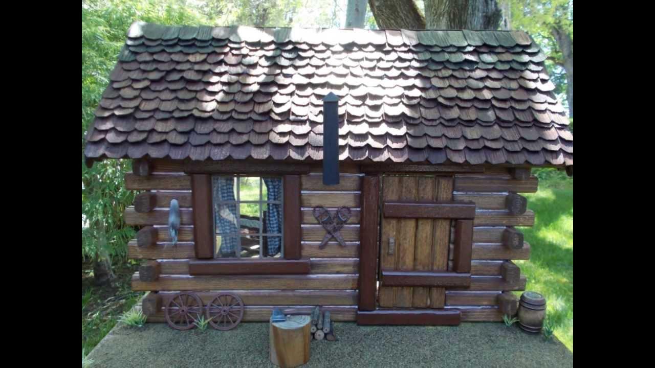 Pioneer Log Cabin Dollhouse Youtube