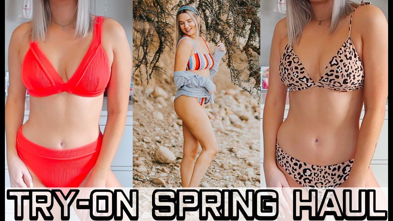 TRY ON HAUL | Bikinis & Spring Clothes! | Spring Break 2019 7