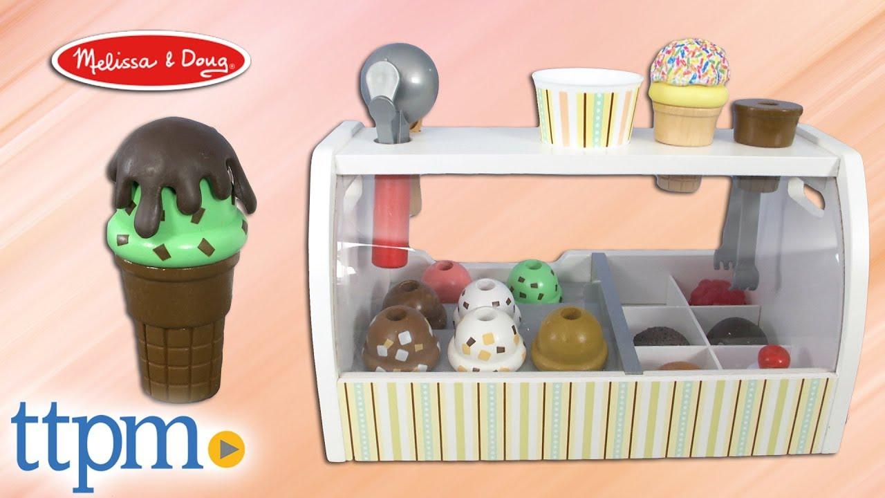 Scoop Serve Wooden Ice Cream Counter From Melissa Doug