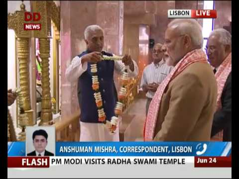 FULL EVENT: PM Modi visits Radha Swami Temple in Portuguese capital Lisbon