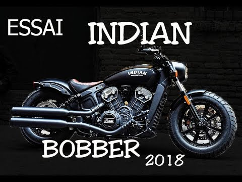 fabike essai indian scout bobber 2018 youtube. Black Bedroom Furniture Sets. Home Design Ideas