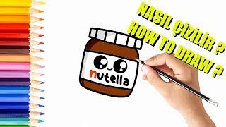 NASIL ÇİZİLİR ? | Çok Kolay Nutella Resmi Çizimi
