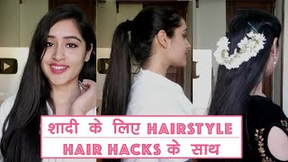 Wedding hairstyle with 7 easy hairstyle hacks for medium and long hair