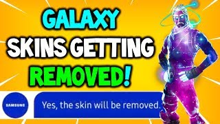 *WARNING* SAMSUNG ARE REMOVING OUR GALAXY SKINS! Fortnite BANNING US?! - Fortnite Galaxy Skin News!