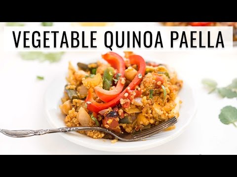 VEGAN QUINOA PAELLA | easy one pan recipe