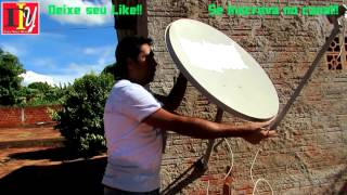 Apontamento Antena Satélite Amazonas 61W