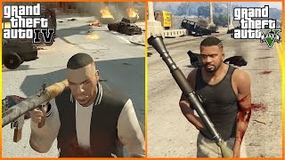 GTA 5 vs GTA 4 CHAOS and POLICE Chases Comparison Gameplay