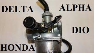 Qanday qilib va moped Delta bir alfa hamda carburetor o'rnatish tozalash uchun