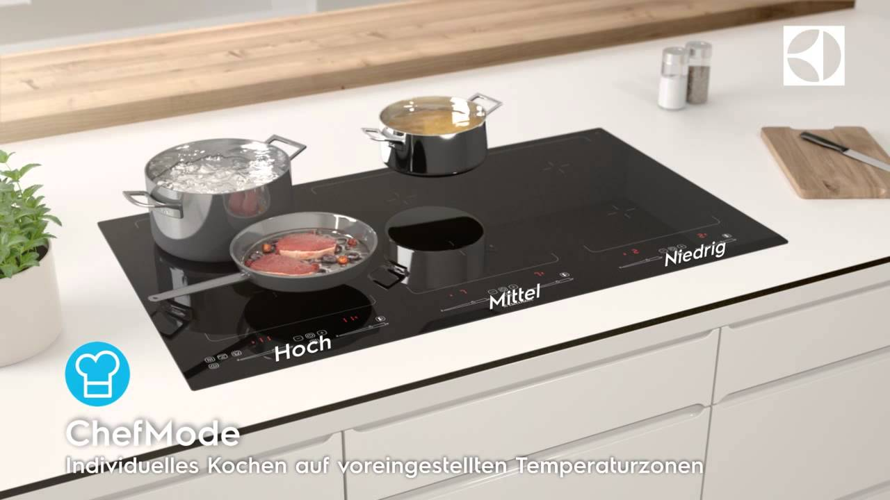 electrolux profiline kochfeld mit chefmode youtube. Black Bedroom Furniture Sets. Home Design Ideas