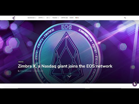 EOS dApps Zimbra X Nasdaq on EOS Blockchain, EOS Airdrop EOSBet, Betdice, Hirevibes, CadEos