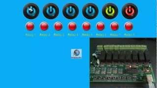 Create-Control-Panel für Velleman K8090/VM8090 USB-Relais-Karte mit N-Button-Software