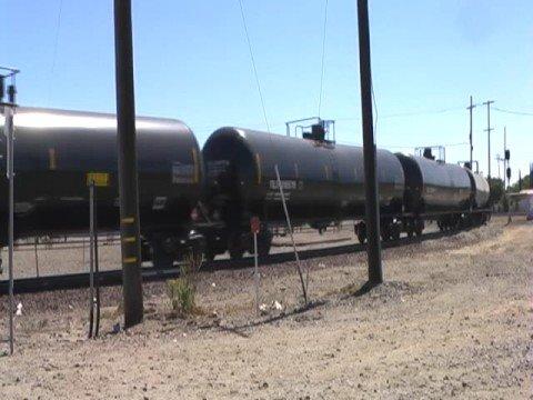 BNSF Train And Union Pacific Truck - Stockton, California
