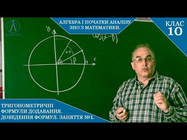 10 клас. Алгебра. Формули додавання.  Доведення.