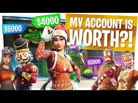 My Fortnite Account is WORTH WHAT?! - Full Locker & Rarest Skins Reveal