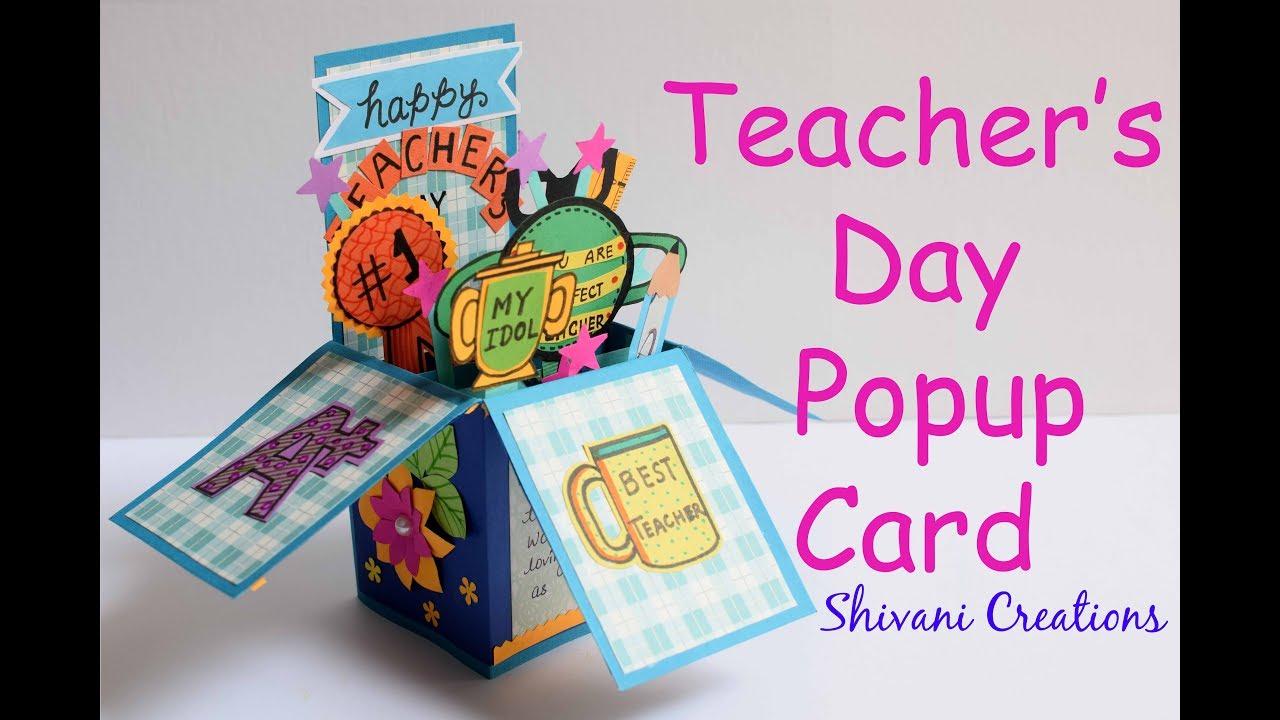 diy teacher's day popup card how to make teacher's day